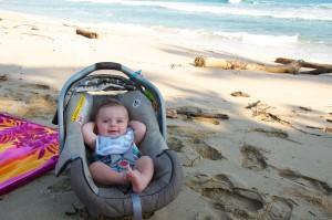 car seat beach